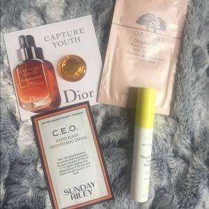 Skincare samples bundle